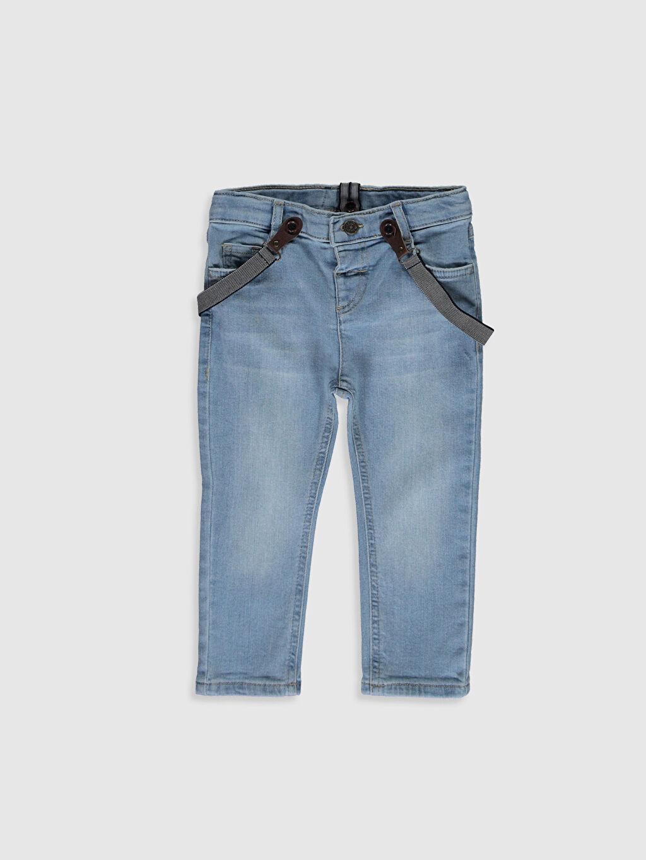 İndigo Erkek Bebek Slım Fıt Jean Pantolon ve Pantolon Askısı 0S0062Z1 LC Waikiki