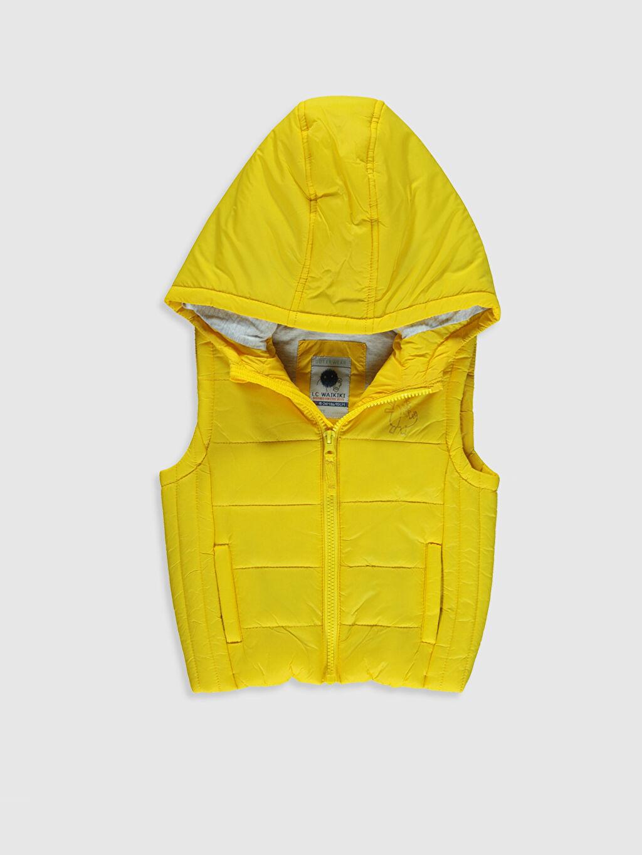 Sarı Erkek Bebek Fermuarlı Yelek 0S0246Z1 LC Waikiki