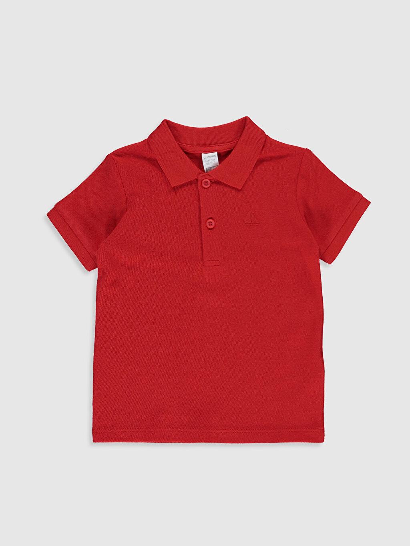 Kırmızı Erkek Bebek Polo Yaka Basic Tişört 0S0258Z1 LC Waikiki