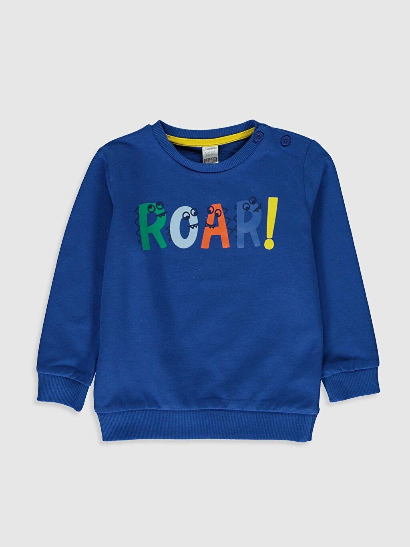 Mavi Erkek Bebek Baskılı Sweatshirt 0S0359Z1 LC Waikiki