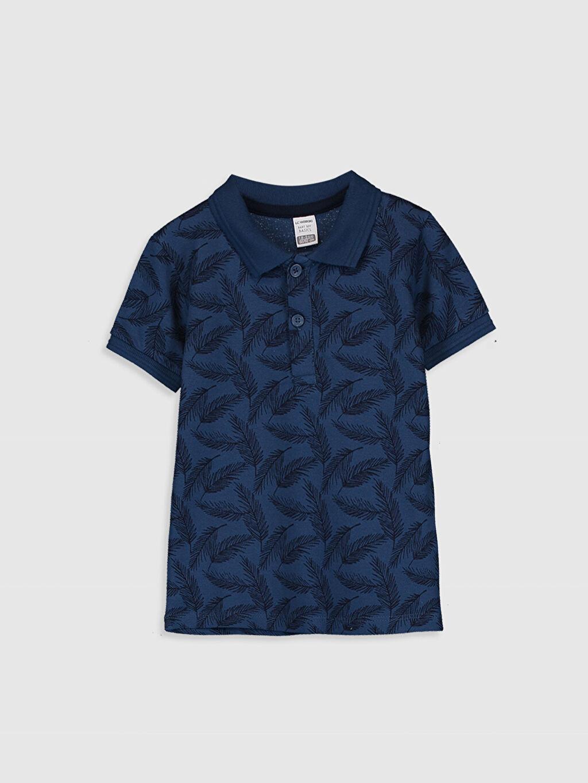 Lacivert Erkek Bebek Baskılı Tişört 0S0383Z1 LC Waikiki
