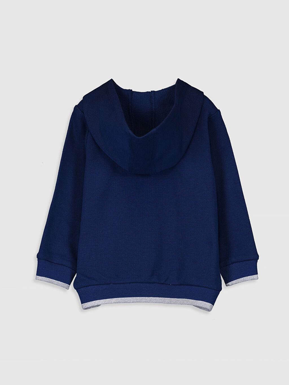 %83 Pamuk %17 Polyester  Erkek Bebek Kapüşonlu Fermuarlı Sweatshirt