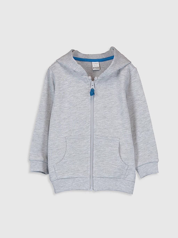 Gri Erkek Bebek Kapüşonlu Sweatshirt 0S0390Z1 LC Waikiki