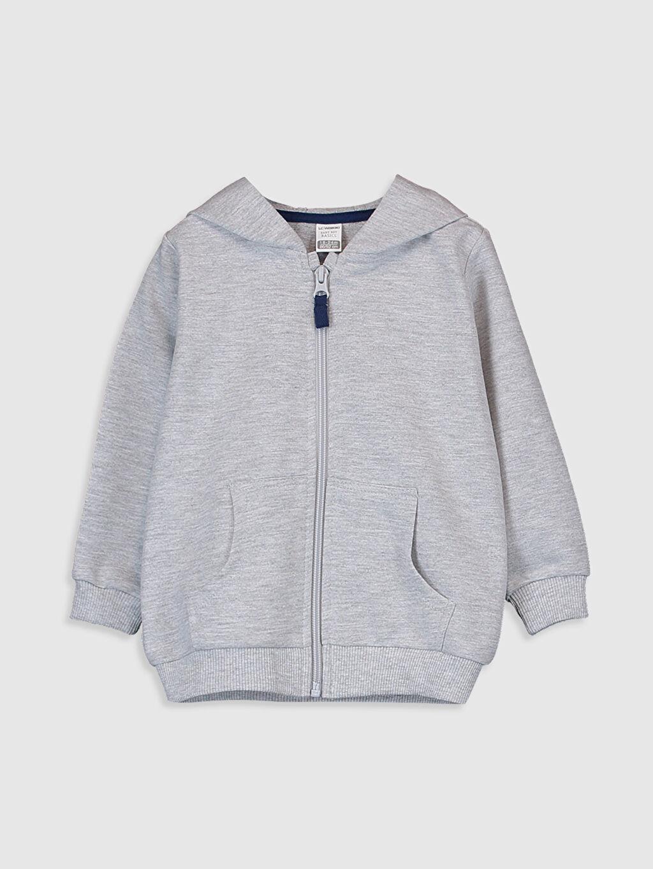 Gri Erkek Bebek Kapüşonlu Sweatshirt 0S0391Z1 LC Waikiki