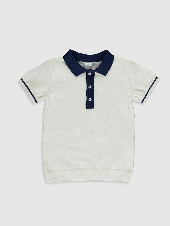 Ekru Erkek Bebek Gömlek Yaka Kazak 0S0404Z1 LC Waikiki