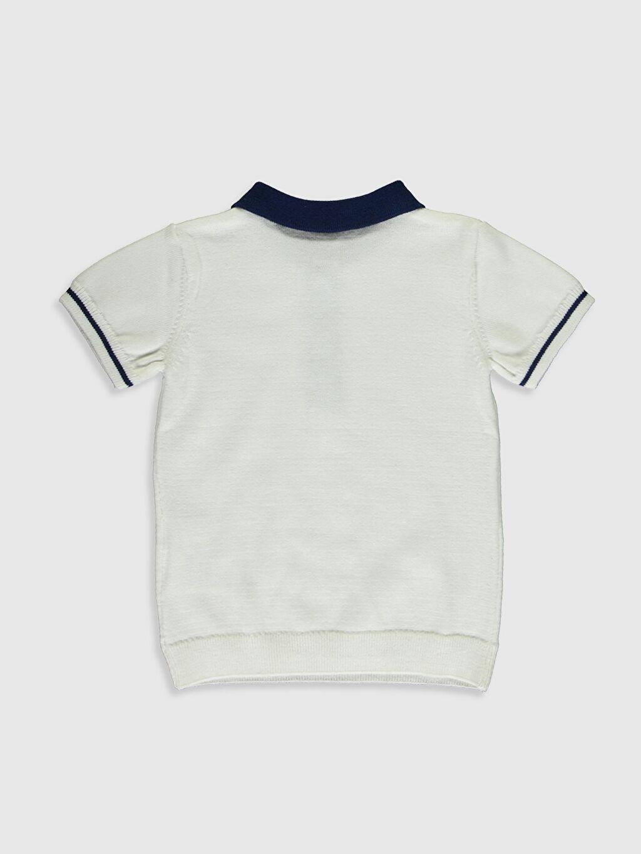 %100 Pamuk Düz İnce Kazak Gömlek Yaka Erkek Bebek Gömlek Yaka Kazak