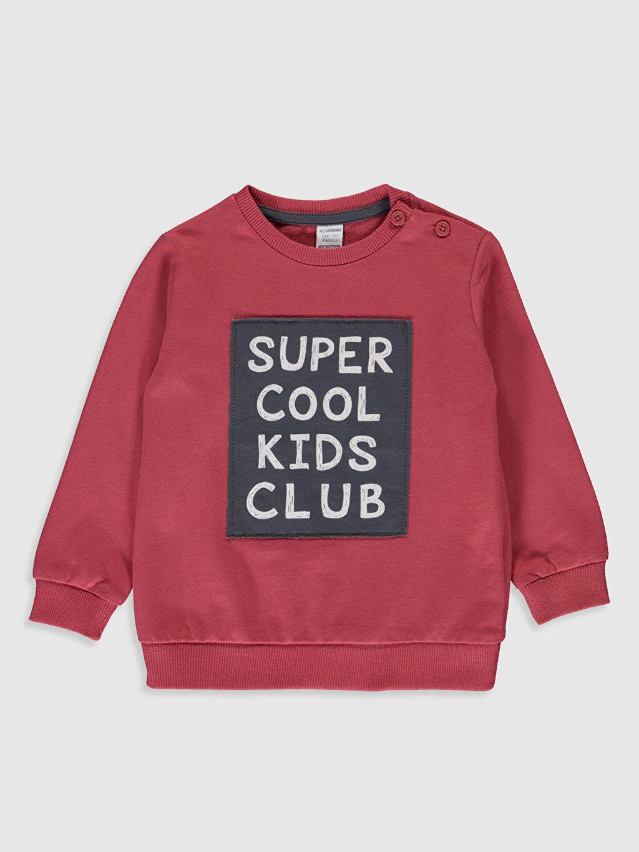 Kırmızı Erkek Bebek Baskılı Sweatshirt 0S0418Z1 LC Waikiki