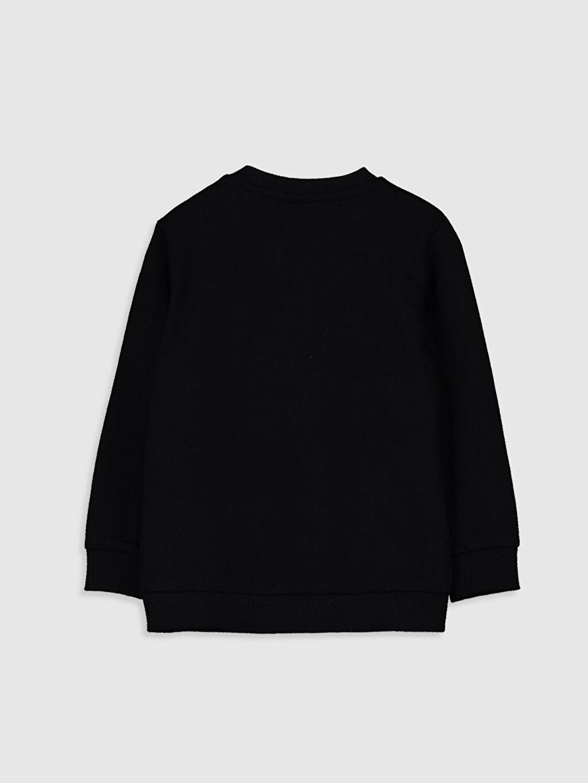%83 Pamuk %17 Polyester  Erkek Bebek Yazı Baskılı Sweatshirt