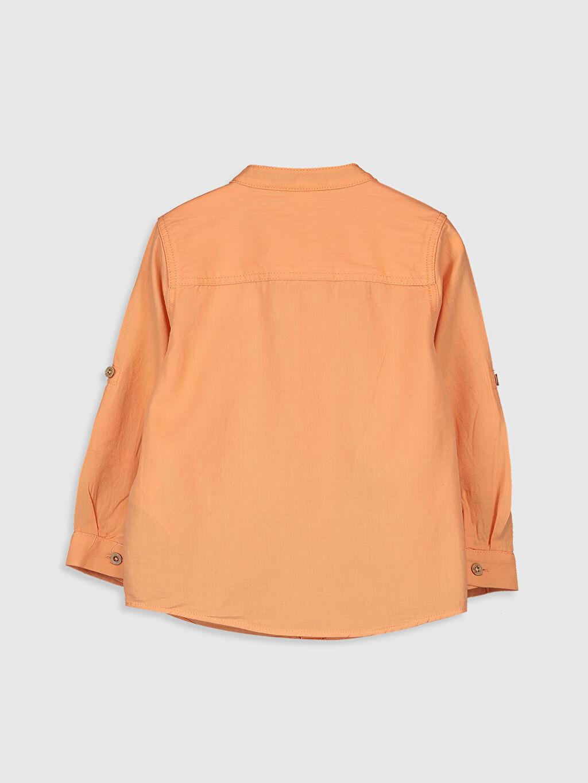 %100 Pamuk Standart Uzun Kol Düz Erkek Bebek Twill Gömlek