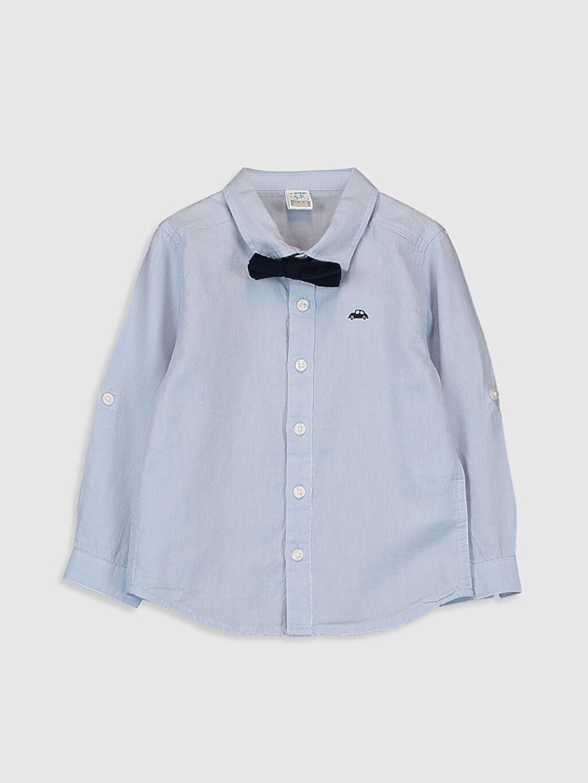 Mavi Erkek Bebek Oxford Gömlek ve Papyon 0S0427Z1 LC Waikiki