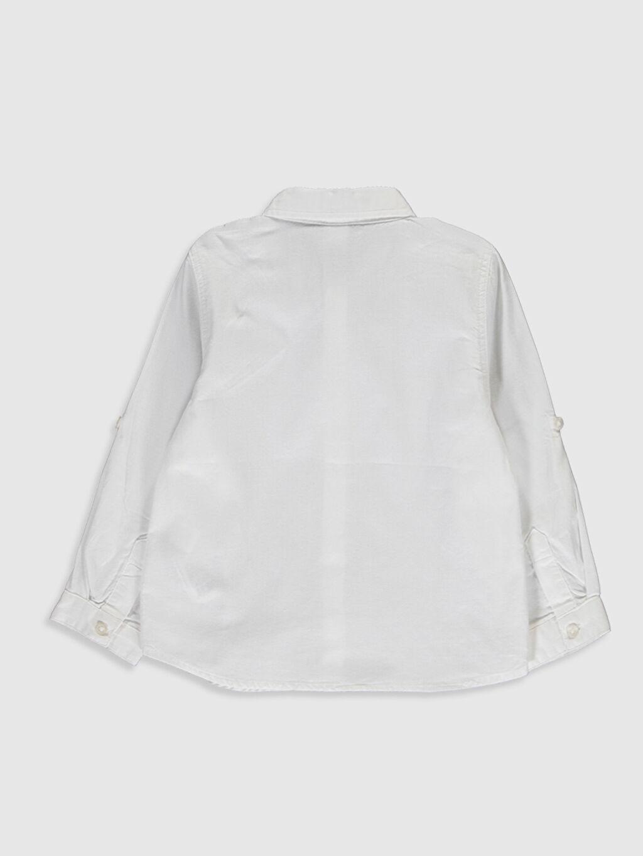 %100 Pamuk %100 Pamuk Standart Uzun Kol Düz Erkek Bebek Oxford Gömlek ve Papyon