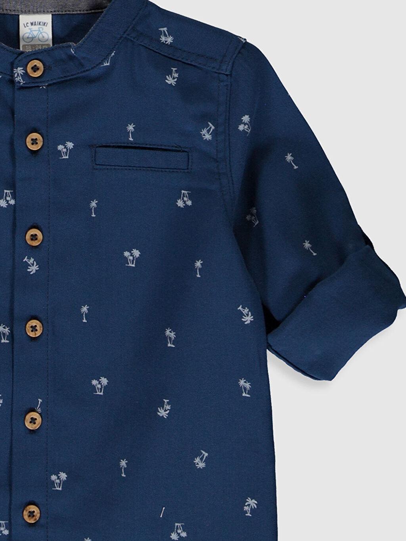 Erkek Bebek Desenli Uzun Kollu Gömlek