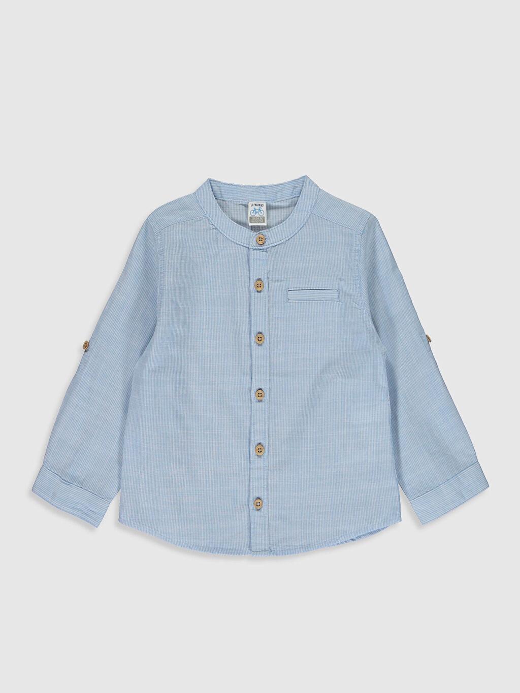 Mavi Erkek Bebek Basic Poplin Gömlek 0S0433Z1 LC Waikiki