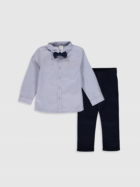 Mavi Erkek Bebek Takım 3'lü 0S0494Z1 LC Waikiki