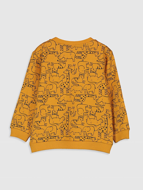 %82 Pamuk %18 Polyester  Erkek Bebek Desenli Sweatshirt