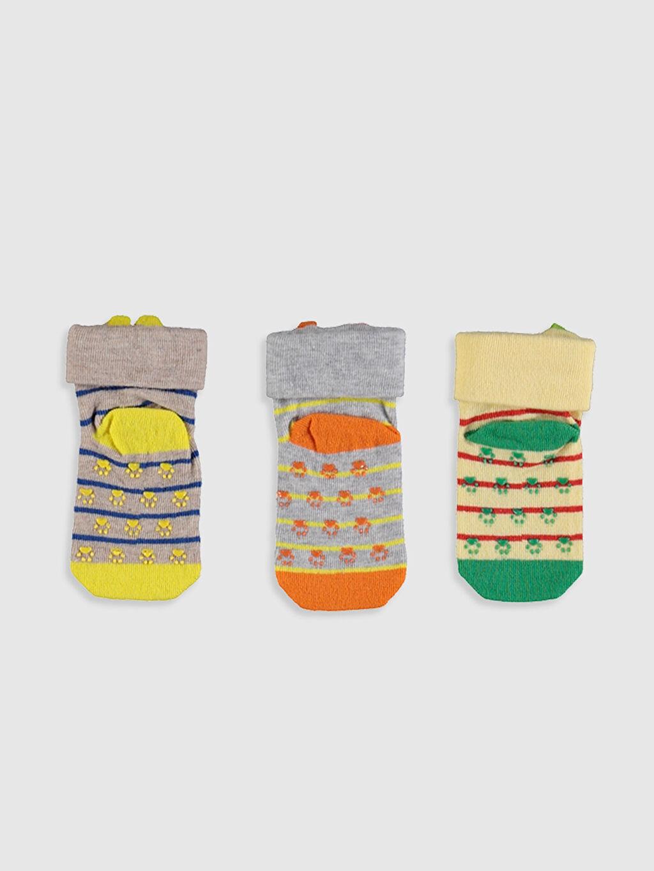 Erkek Bebek Erkek Bebek Desenli Soket Çorap 3'lü