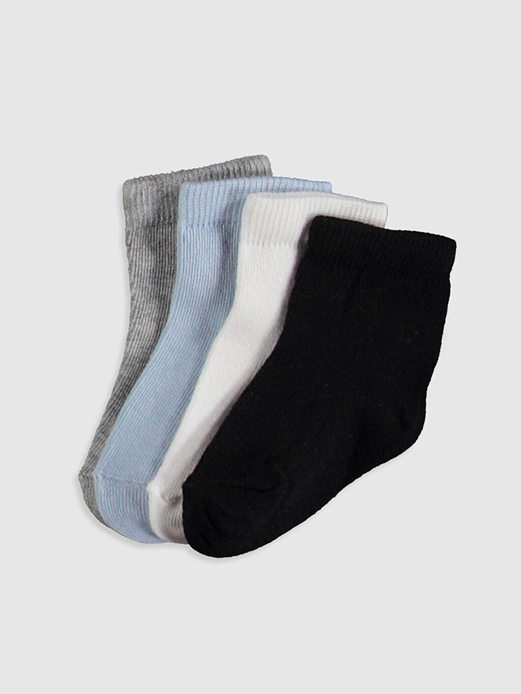 Beyaz Soket Çorap 4'lü 0S0994Z1 LC Waikiki