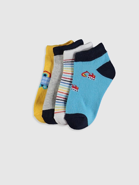 Çok Renkli Erkek Bebek Soket Çorap 4'lü 0S1003Z1 LC Waikiki