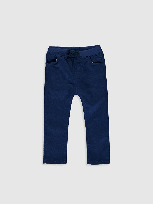 Kırmızı Erkek Bebek Slim Fit Gabardin Pantolon 0S1076Z1 LC Waikiki