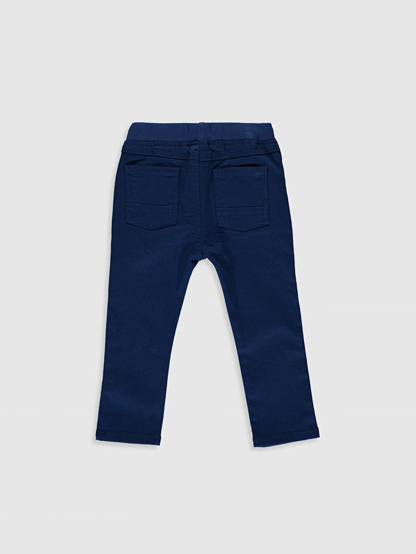 %98 Pamuk %2 Elastan Dar Erkek Bebek Slim Fit Gabardin Pantolon