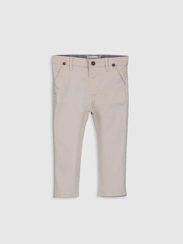 %98 Pamuk %2 Elastan %74 Polyester %26 ELASTODİEN Dar Erkek Bebek Gabardin Pantolon ve Pantolon Askısı