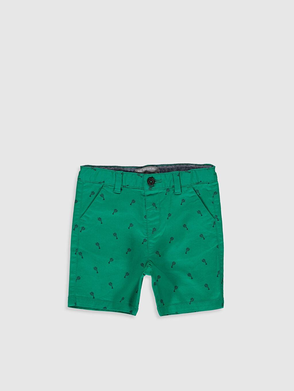 Yeşil Erkek Bebek Desenli Gabardin Şort 0S1084Z1 LC Waikiki