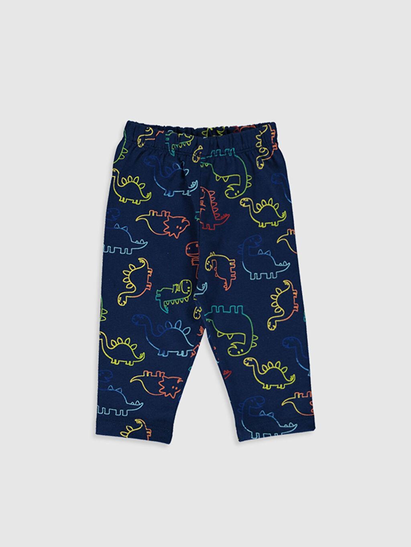 Erkek Bebek Desenli Pamuklu Pijama Takımı