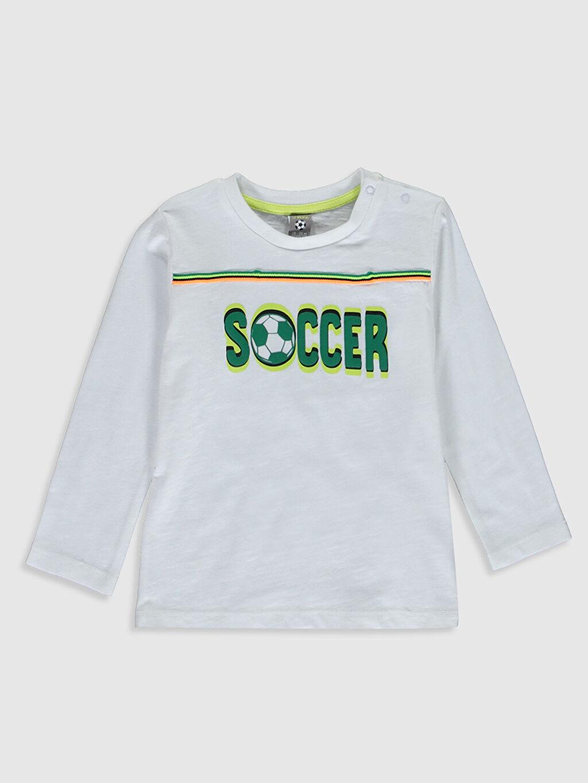 Beyaz Erkek Bebek Slogan Baskılı Tişört 0S1303Z1 LC Waikiki