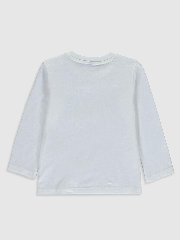%100 Pamuk Normal Baskılı Uzun Kol Tişört Bisiklet Yaka Erkek Bebek Slogan Baskılı Tişört