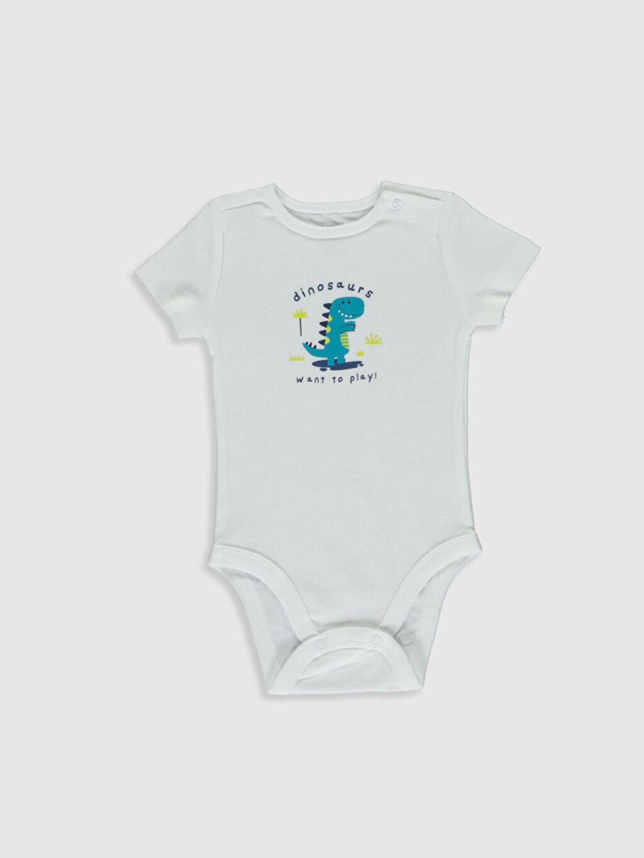 Erkek Bebek Erkek Bebek Baskılı Çıtçıtlı Body 2'li