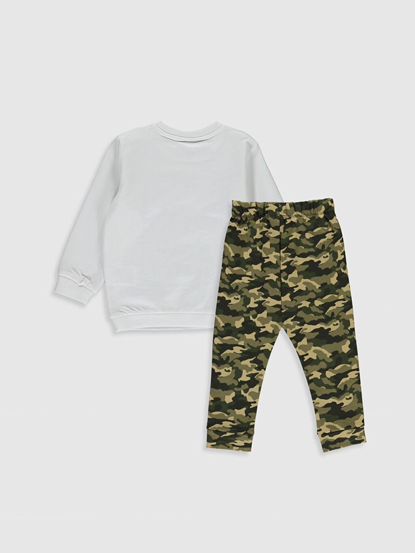 %83 Pamuk %17 Polyester %76 Pamuk %24 Polyester  Erkek Bebek Baskılı Sweatshirt ve Pantlon