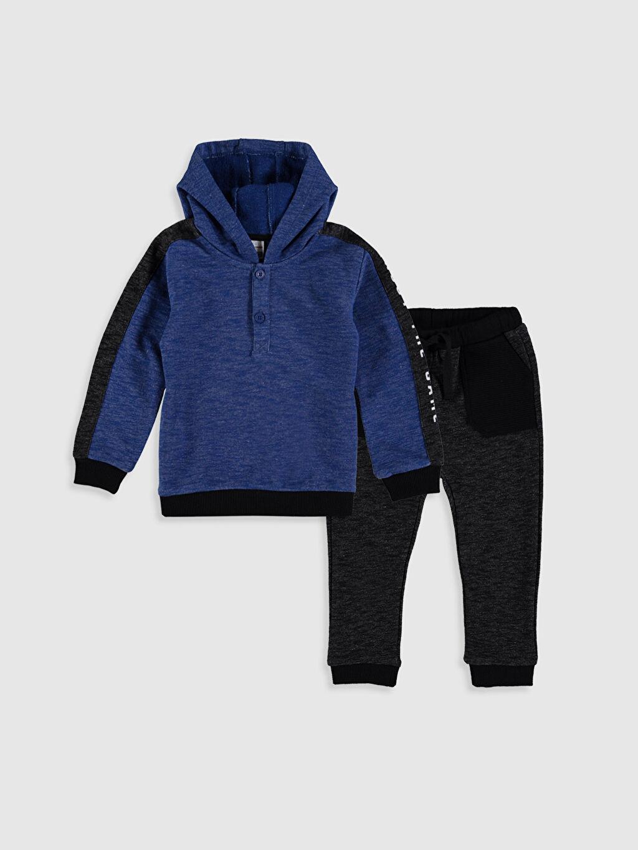 Mavi Erkek Bebek Sweatshirt ve Pantolon 0S1491Z1 LC Waikiki