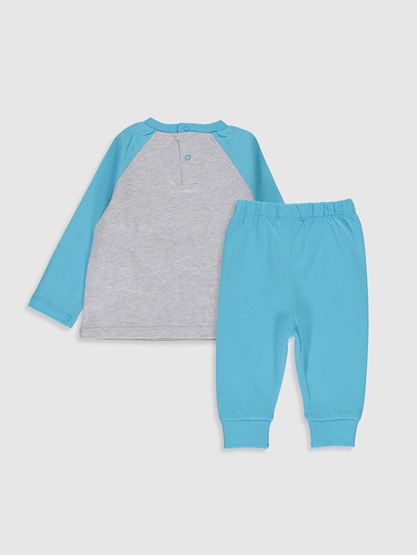 %100 Pamuk Standart Pijamalar Erkek Bebek Desenli Pijama Takımı