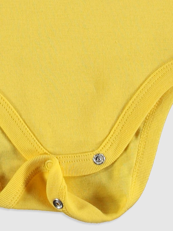 Sarı Erkek Bebek Baskılı Çıtçıtlı Body 2'li