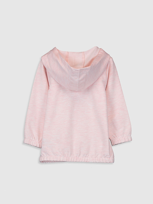 %69 Pamuk %31 Polyester  Kız Bebek Kapüşonlu Sweatshirt