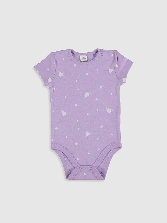 Kız Bebek Desenli Çıtçıtlı Body 2'li