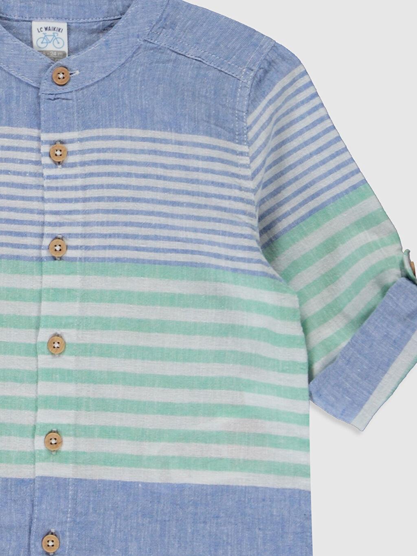 Erkek Bebek Erkek Bebek Çizgili Keten Gömlek