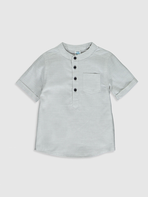 Gri Erkek Bebek Hakim Yaka Gömlek 0S1873Z1 LC Waikiki
