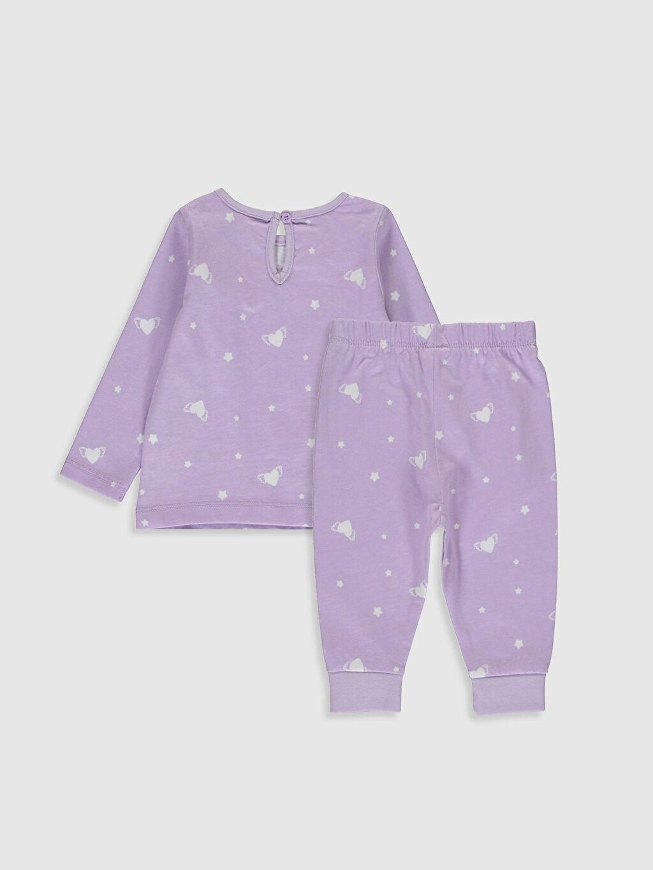 %100 Pamuk %100 Pamuk Standart Pijamalar Kız Bebek Baskılı Pijama Takımı