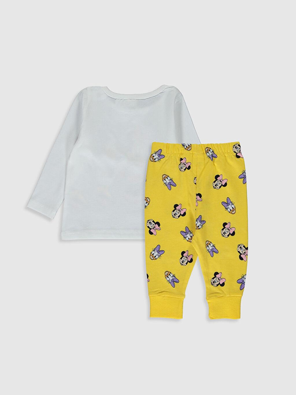 %100 Pamuk %100 Pamuk Standart Pijamalar Kız Bebek Disney Baskılı Pamuklu Pijama Takımı
