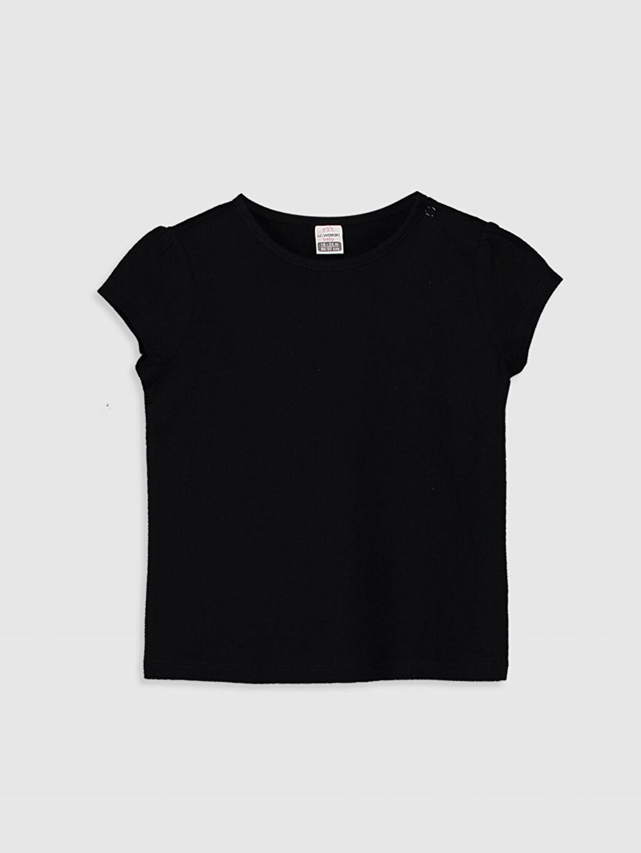 Siyah Kız Bebek Basic Pamuklu Tişört  0S1975Z1 LC Waikiki