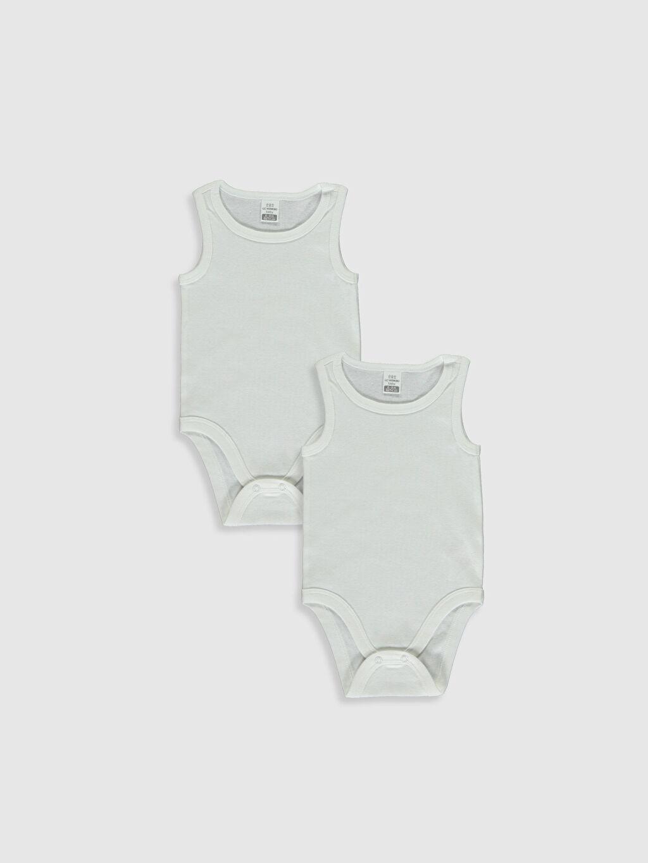 Beyaz Kız Bebek Çıtçıtlı Body 2'li  0S2068Z1 LC Waikiki