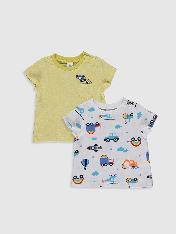 Sarı Erkek Bebek Baskılı Tişört 2'li 0S2168Z1 LC Waikiki