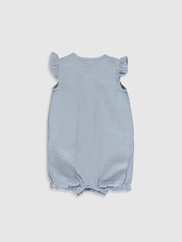 %100 Pamuk  Kız Bebek Çizgili Tulum