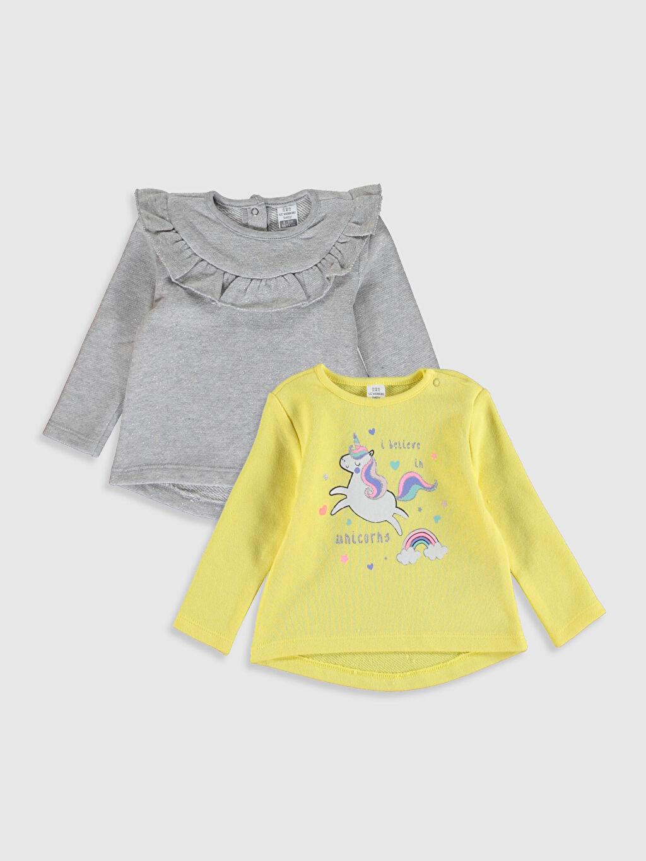 Sarı Kız Bebek Tişört 2'Li 0S2220Z1 LC Waikiki