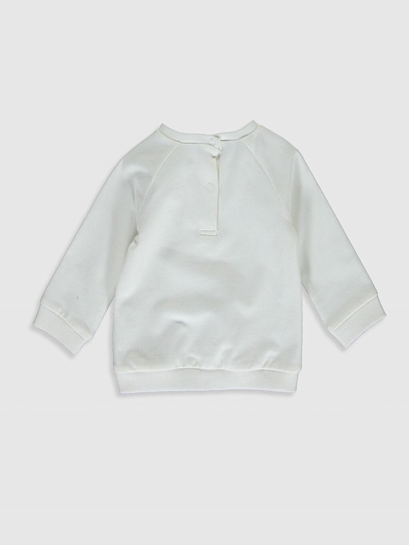 %97 Pamuk %3 Elastan  Kız Bebek Unicorn Baskılı Sweatshirt