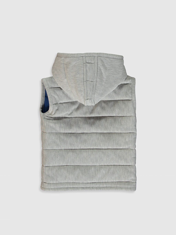 %47 Pamuk %53 Polyester %100 Pamuk Yelek Erkek Bebek Kapüşonlu Fermuarlı Yelek