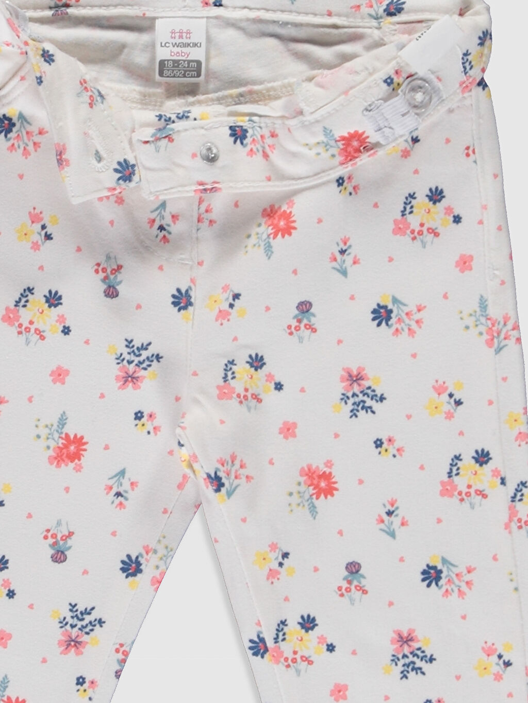 Kız Bebek Kız Bebek Desenli Gabardin Pantolon