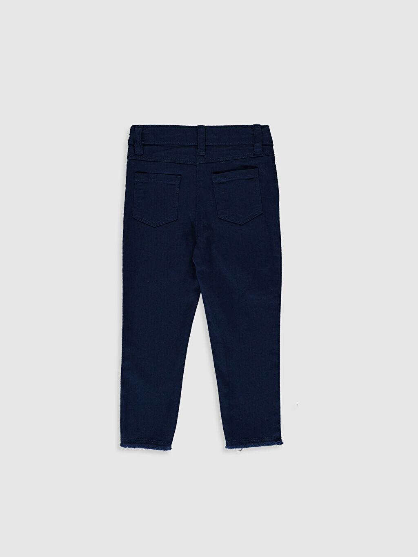 %97 Pamuk %3 Elastan Normal Bel Standart Kız Bebek Gabardin Pantolon