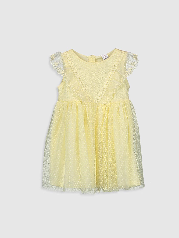 Sarı Kız Bebek Tül Elbise 0S2466Z1 LC Waikiki